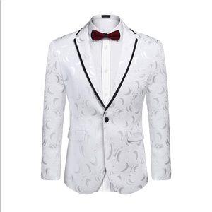 COOFANDY Men' Rose Floral Suit Jacket Blazer Large
